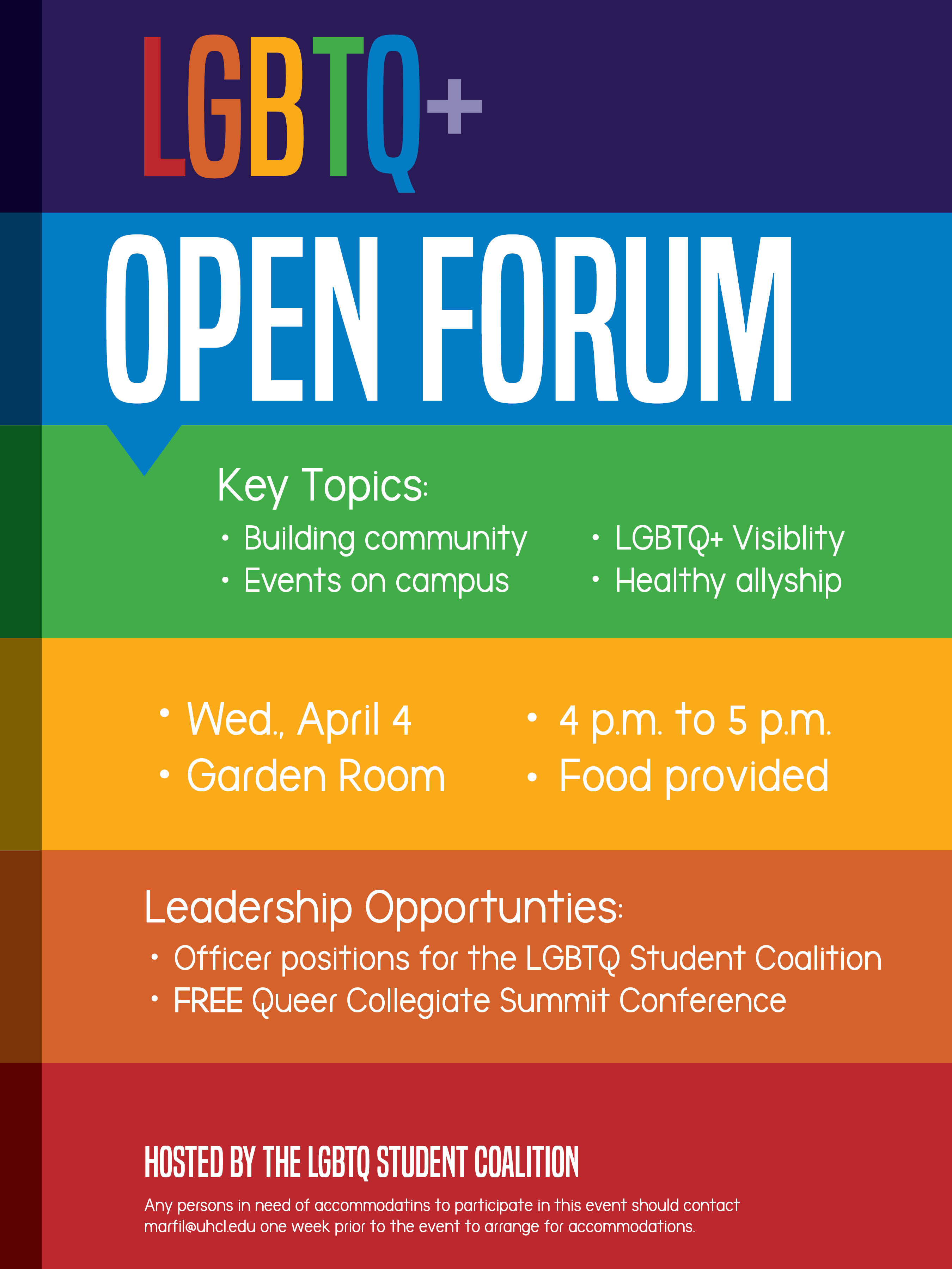 Clear Lake Houston >> LGBTQ open forum leaves hope for the future – UHCL The Signal